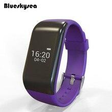 Blueskysea R1 Смарт Браслет часы OLED монитор сердечного ритма Спорт фитнес трекер