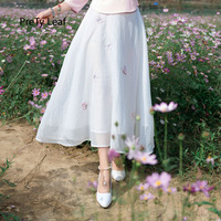 2018 Spring and Summer Ethnic Style Embroidered High Waist Skirt