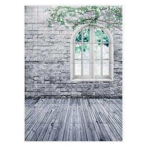 Image 3 - Allenjoy photography background white brick wall window Twig spring backdrop studio children princess girl econ vinyl photophone