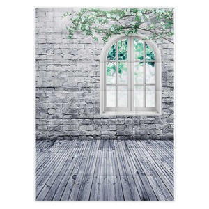 Image 3 - خلفية للتصوير من Allenjoy خلفية جدار من الطوب الأبيض نافذة غصين خلفية للاستوديو للأطفال الأميرة فتاة econ الفينيل photophone