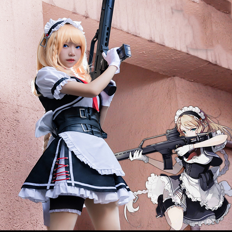 Game Girls Frontline Cosplay Costume G36 Cosplay Maid Costumes Halloween Party Women Maid Cosplay Costume