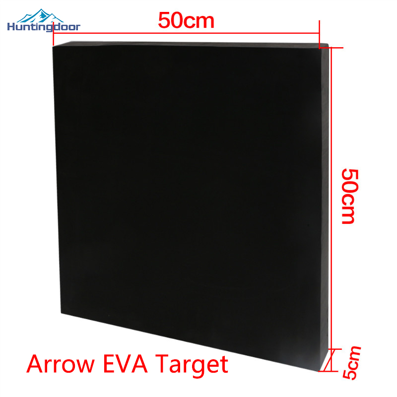 1pc Hot Sale Black EVA 50cm*5cm*50cm Archery Arrow Target for Bow Shooting Practicing or Training Outdoor Games 1pc 50cm