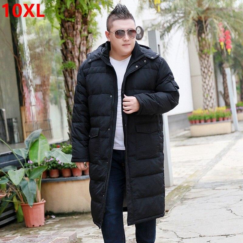 Chaqueta Extra grande sobre la rodilla para hombre más fertilizante para aumentar el grosor de la sección larga frío abrigo 10XL 9XL 8XL-in Plumíferos from Ropa de hombre    1