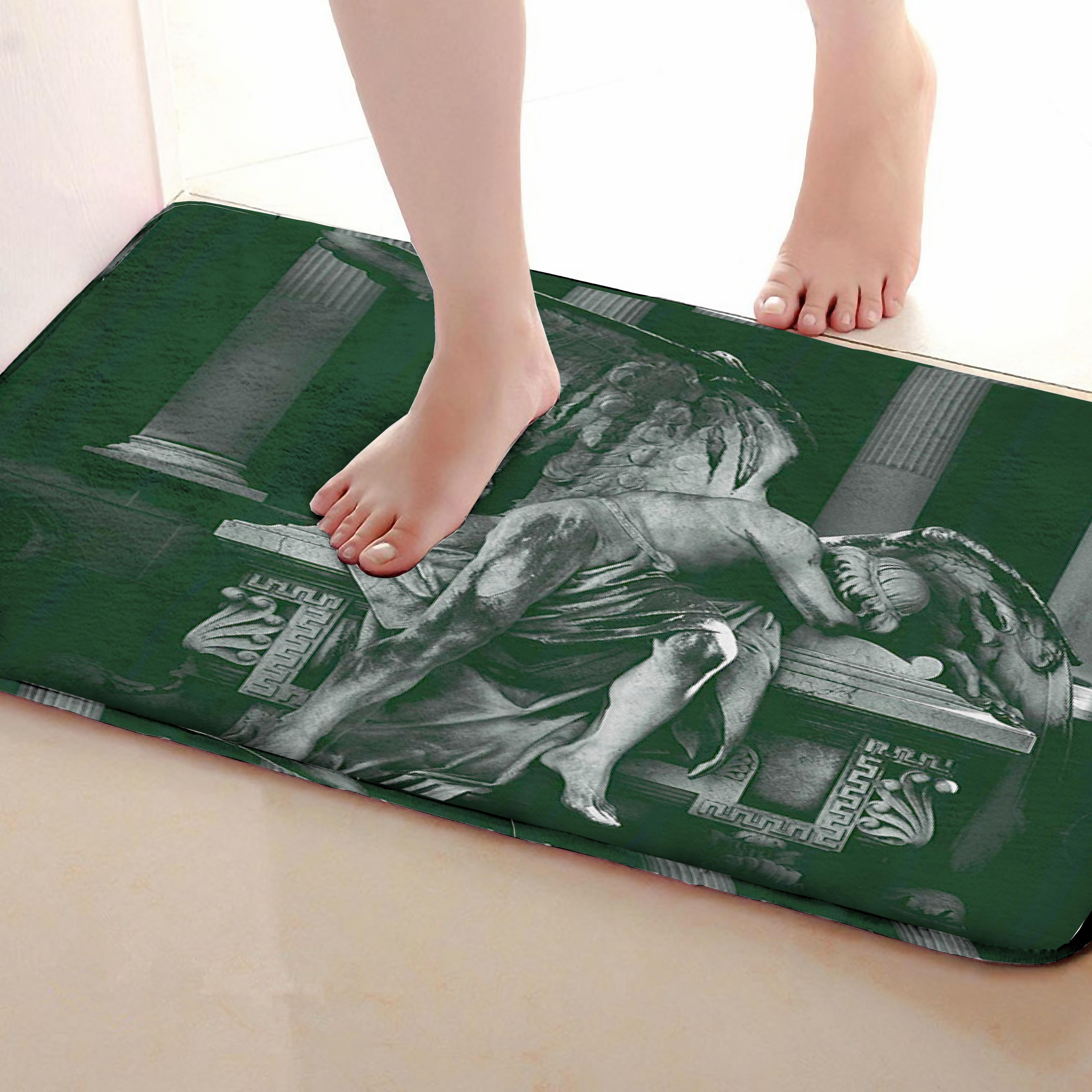 Angel Style Bathroom Mat,Funny Anti Skid Bath Mat,Shower Curtains Accessories,Matching Your Shower Curtain