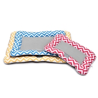 Summer Essential!Ice Silk Pet Cushion Cold Touch Dog Bed 3 Color Stripe Puppy Kennel Cat Mats Reduce the Temperature!