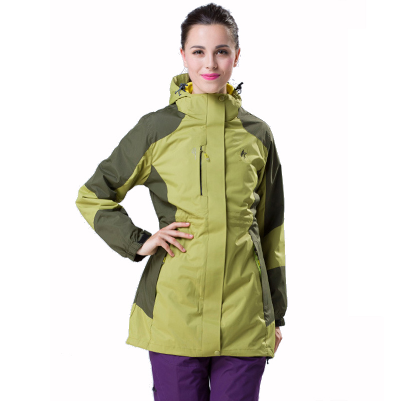 Winter outdoor two-piece Jackets Women in the long section of the mountaineering sports hiking ski jacket three-in-one waterproo fred blunt one two three