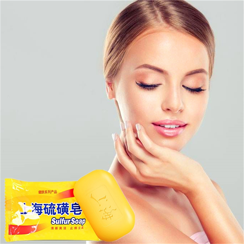 Sulfur Soap 85g Anti-Acne Whitening Face Soap Moisturizing Nourishing Deep Cleansing Anti-bacterial Anti-inflammatory