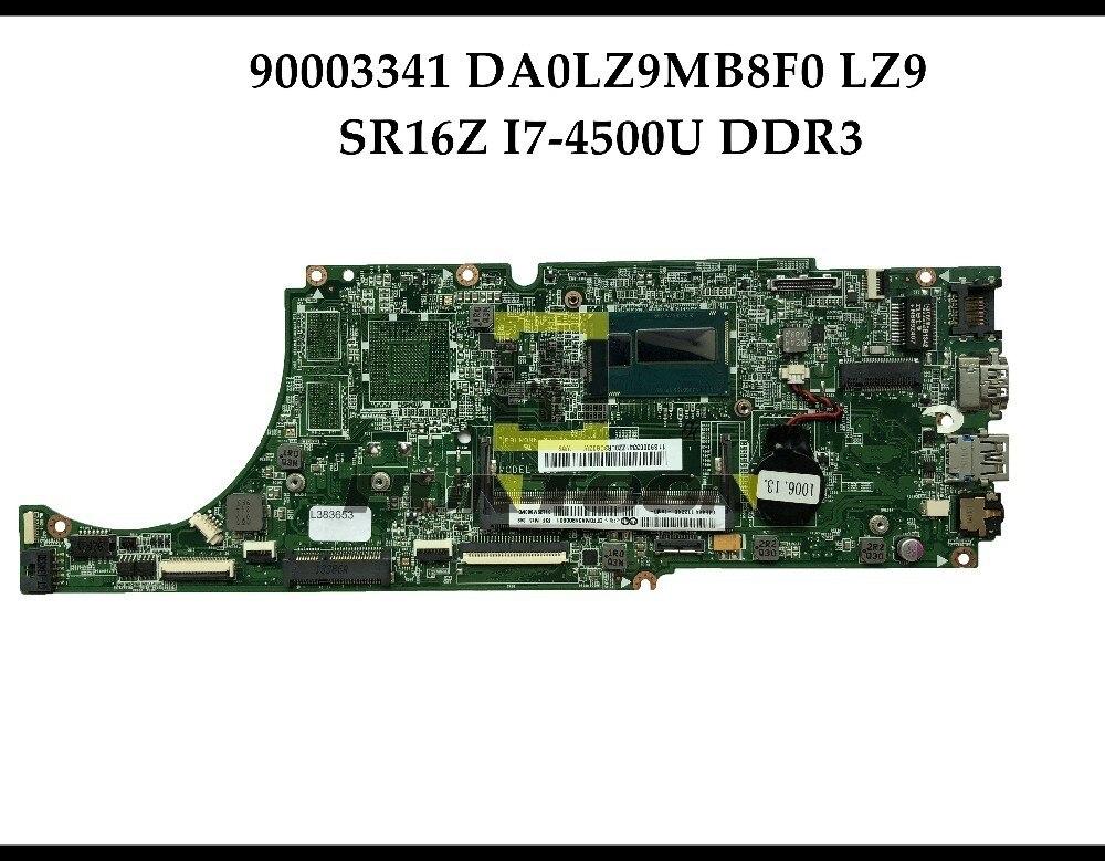 High quality FRU 90003341 For Lenovo Ideapad U430 Laptop Motherboard DA0LZ9MB8F0 LZ9 SR16Z I7 4500U DDR3