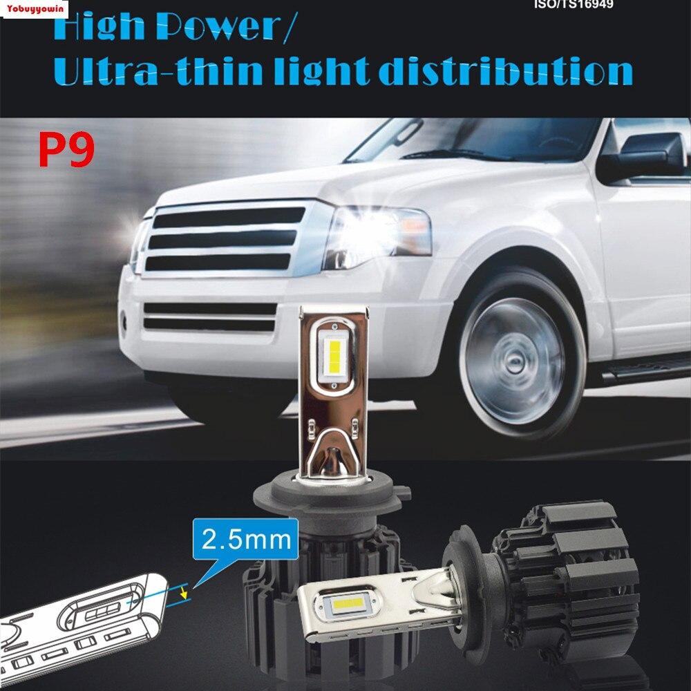 2Pcs New Powerful H4 <font><b>LED</b></font> H7 H11 H8 9006 HB4 Flip <font><b>P9</b></font> Auto Car Headlight 55W/110W/Pair High Low Beam Bulb Automobile Lamp 6500K