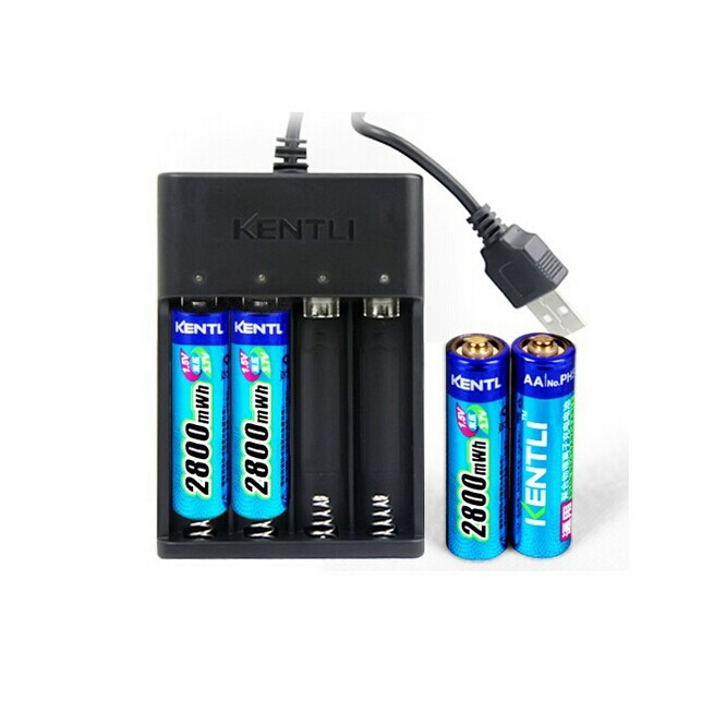 kentli ph5 aa rechargeable battery 2800mah lithium. Black Bedroom Furniture Sets. Home Design Ideas