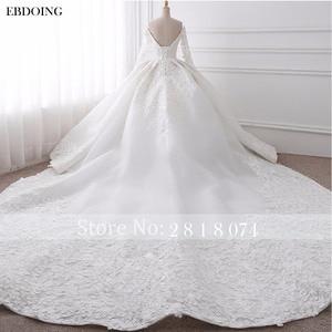 Image 2 - EBDOING Wedding Dress Ball Gown Sweetheart Neckline Chapel Train Custom Made Plus Size Bridal Gown Vestidos De Novia