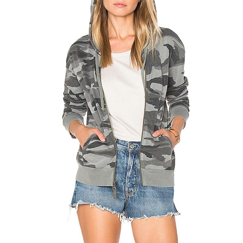 5a89728959a Women Soft Sweatshirt Patchwork kpop sweatshirt Jacket zip College Casual  Camouflage Tops Army Green Plus Size m XXL-in Hoodies   Sweatshirts from  Women s ...