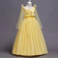 New Prom Party Princess Flower Girl Dress Wedding Long Formal Children Birthday Dresses For Teen Girls Kids