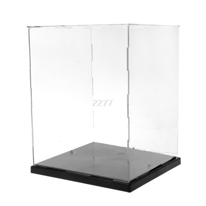 Clear Acrylic Display Box Dustproof Protection Model Show Case With LED Lights MAY14 dro ...