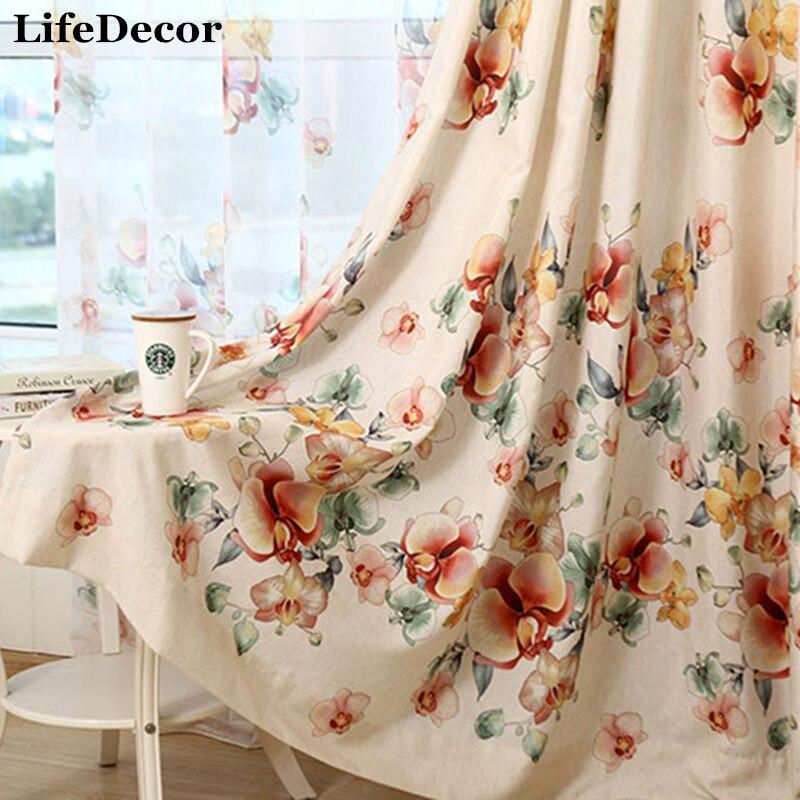 de la cortina impresa cortina de ventana del apagn tela de la cortina moderna cortinas