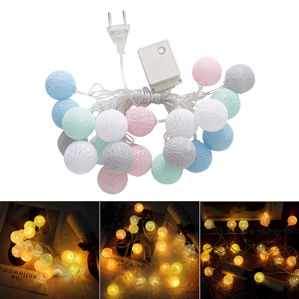Lights & Lighting 100% Quality 20 Led Fairy White Bead Lamp Battery Operated String Lights 3m Led Decoration For Christmas Garland New Year Wedding Gerlyanda
