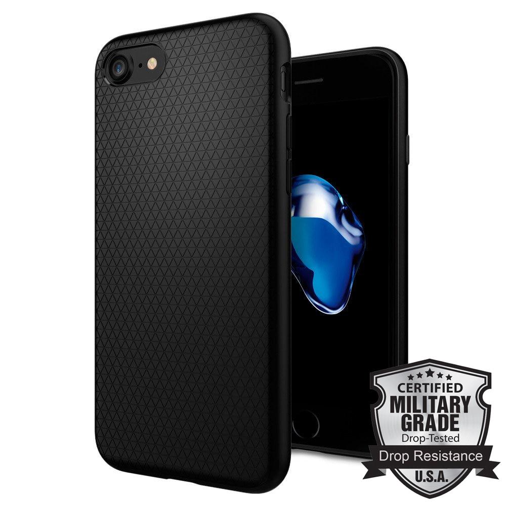 """imágenes para 100% original SPIGEN Liquid Armor para iPhone 7 (4.7 """") Funda TPU duradera mate premium TPU negro 042cs20511"""