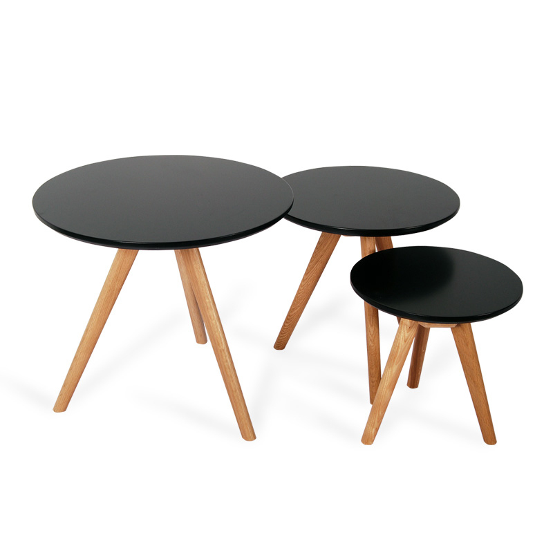 Special IKEA Scandinavian Minimalist Modern Japanese Style Living Room  Bedroom Creative Side A Few Small Coffee Table Round Wood In Coffee Tables  From ...