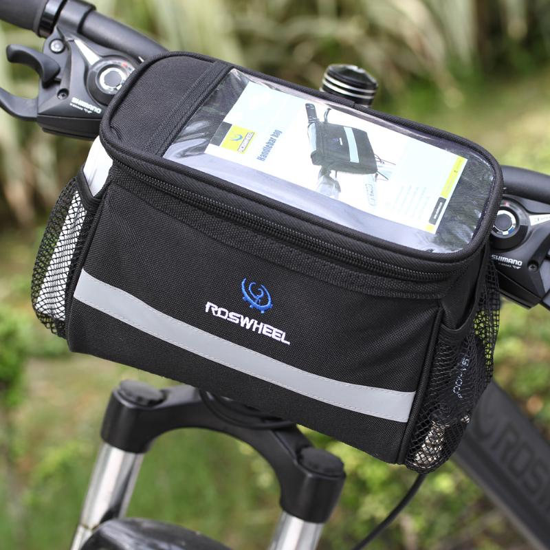 Movable Heat Protection Bike Bicycle Cycling Anti-tear Bags Front Detachable Bicycle Front Bag(Map Allowed)Bycicle Accessories