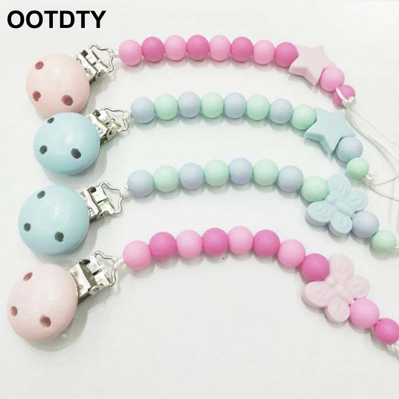 Baby Dummy Pacifier Soother Nipple Toddler Leash Strap Chain Clips Holder HM