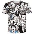 Sobrecarga de La Camiseta Hombres Mujeres Summer camisetas Divertidas Memes Meme De Internet Tees Harajuku Tee Shirts Humorístico Emoji camiseta Tops