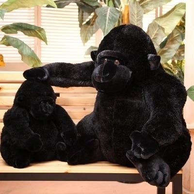 1Pc 50Cm Plush Simulation Gorilla Orangutan Chimpanzees Monkey Toy Stuffed Doll Baby Kid Children Birthday Gift Home Shop Decor black orangutan 75x85cm chimpanzee plush toy black king kong doll gift w4663