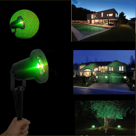 Outdoor Indoor Red Green Laser Light Show Projectors Night Lamp for Garden Lawn Tree Christmas