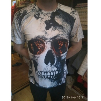 Casual 3D Skull T Shirt 1