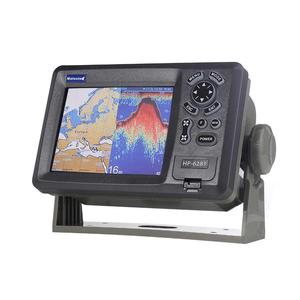 Matsutec HP-628F MARINE COLOR Plotter Sounder  Fishfinder DUAL frequency 6 inch GPS/SBAS Navigator w/ High Sensitivity Antenna