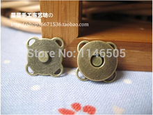 30 Sets bronze Tone Snaps Bag Purse Clasp Metal Button Fastener Sewing Craft 18mm magnetic buttons for Bags Scrapbooking