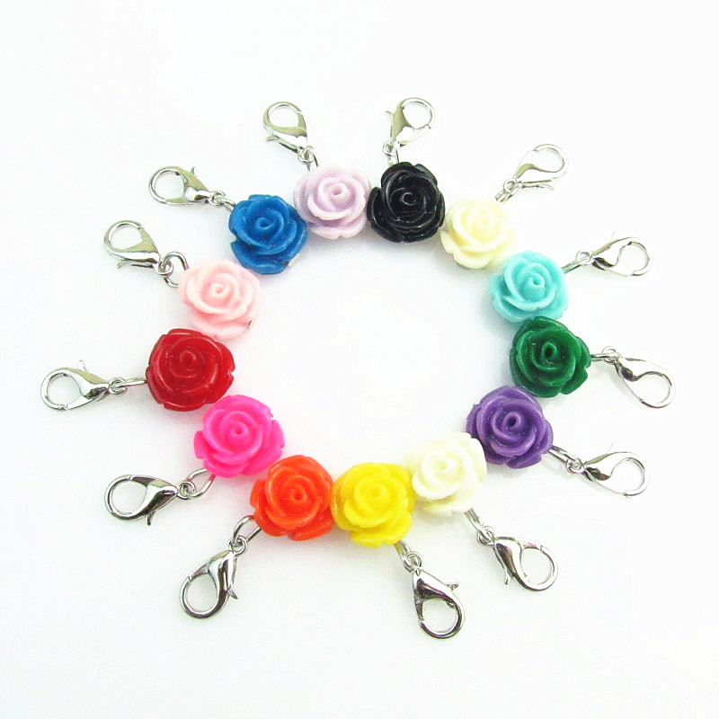 QILAI 12pcs/lot Mix 12 Different Color Rose Flower