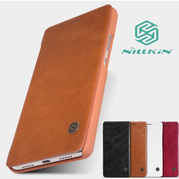 Original For Huawei P9 Lite Case Nillkin Qin Series Flip Cover PU Leather Case for Huawei