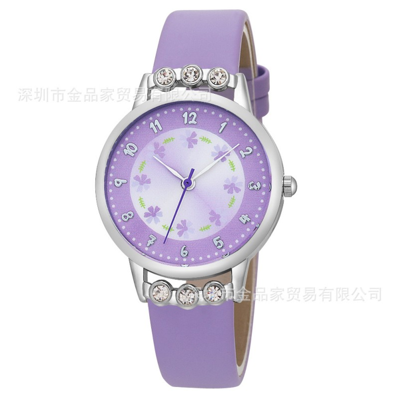 New Arrival Women Kids Children Girls Ladies Quartz Watch Diamond Wristwatch Rosette Flower Watches Relogio Kol Saati Clock