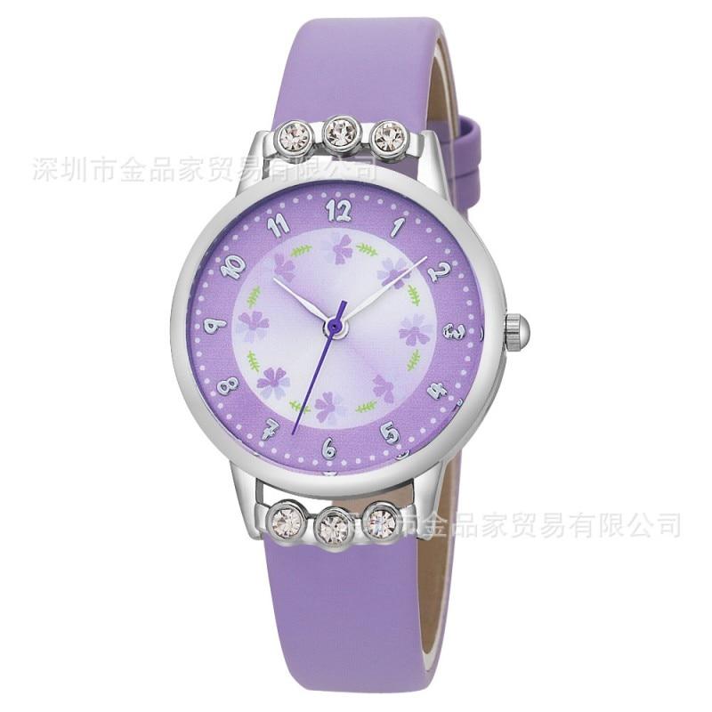 New Arrival Women Kids Children Girls Ladies Quartz Watch Diamond Wristwatch Rosette Flower Watches Relogio Kol Saati Clock