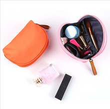 Portable Women Cosmetic Handbag Small Semicircle Shell Makeup Bag Travel Phone Line Toiletry Bag Necessaries Make Up Organizer