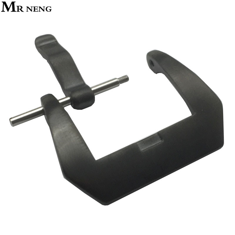 MR NENG Brand 20mm 22mm 24mm 304L Stainless Steel Watch Buckle Black Solid Metal Watchband Strap Clasp Band Accessories high quality 20mm 22mm 24mm leather watch strap man watch straps black brown gray stainless steel buckle thick line watch band