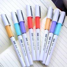 5 шт. случайный Южная Корея канцелярские Японский простой желе цвет cap pull гелевая ручка с черными чернилами 0.5 мм