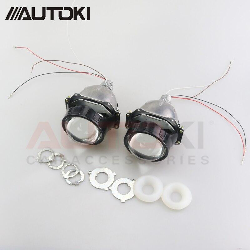 Autoki Car Styling Universal AUTO Bi-LED Projecteur Lentille Avec Puce 3.0 pouces Faisceau Haut et Bas Phare Rénovation pour H4 H7 H11 - 2