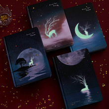 חמוד צבע דפים יומן סדר יום גרפיטי A5 ליל הכוכבים Sketchbook בצבעי מים ציור בית ספר יומן קוריאה מכתבים