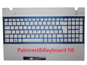 Image 5 - Laptop Palmrest & Toetsenbord Voor Samsung 300V5A 305V5A Engels Ons Rusland Ru Arabië Ar Nordic Ne Canada Ca Touchpad Case cover Nieuwe