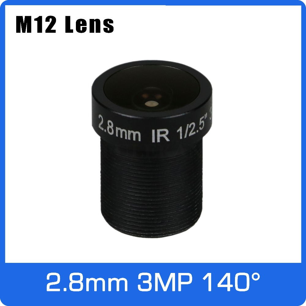 3Megapixel <font><b>2.8mm</b></font> Fixed 1/2.5 inch 140 Degree Wide Angle CCTV Lens For HD 1080P IP Camera AHD CCTV Camera Free Shipping image