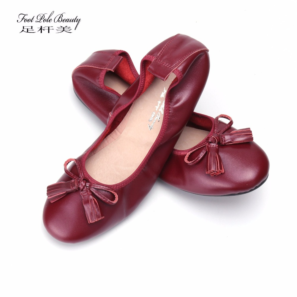 Women Leather Slip On Loafers Ballet Ballerina Flats Ladies Plain Casual Shoes