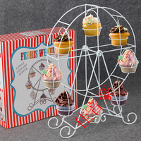 Kitchen Bakeware Cake Tools Ferris Wheel Party Rotatable Pastry Cupcake Dessert Display Holder Cups Supplies Cake Stand Rack