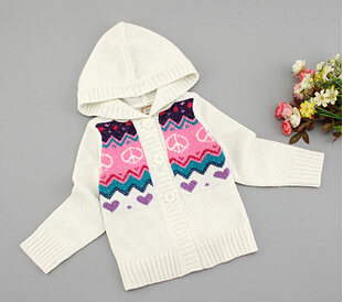 New kids autumn/winter wear Children sweater kid's casual sweater fashion striped sweaters baby girl's cardigans 4 size for 2-5T