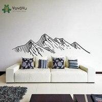 YOYOYU Wall Decal Catoon Room Decoration Mountain Pattern Art DIY Wall Sticker salon Kid's Bedroom Vinyl Removeable Mural ZX010