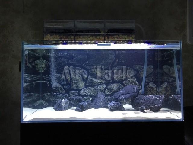 Mr.Tank 3D Effect Aquarium Background Poster HD Rock Stone PVC Aquarium Landscape Picture Backdrop Decorations