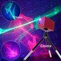 Chims Mini Portatile Laser di Illuminazione Cordless Ricaricabile RGB Aurora Meteora star Proiettore Esterno di Campeggio di Viaggio Di Natale Del Partito