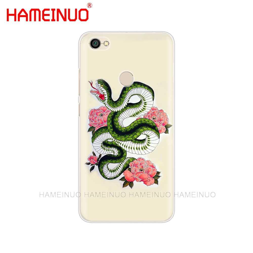 HAMEINUO Serpent Noir Crâne Housse étui de téléphone pour xiaomi redmi 5 4 1 1s 2 3 3s pro PLUS redmi note 4 4X 4A 5A