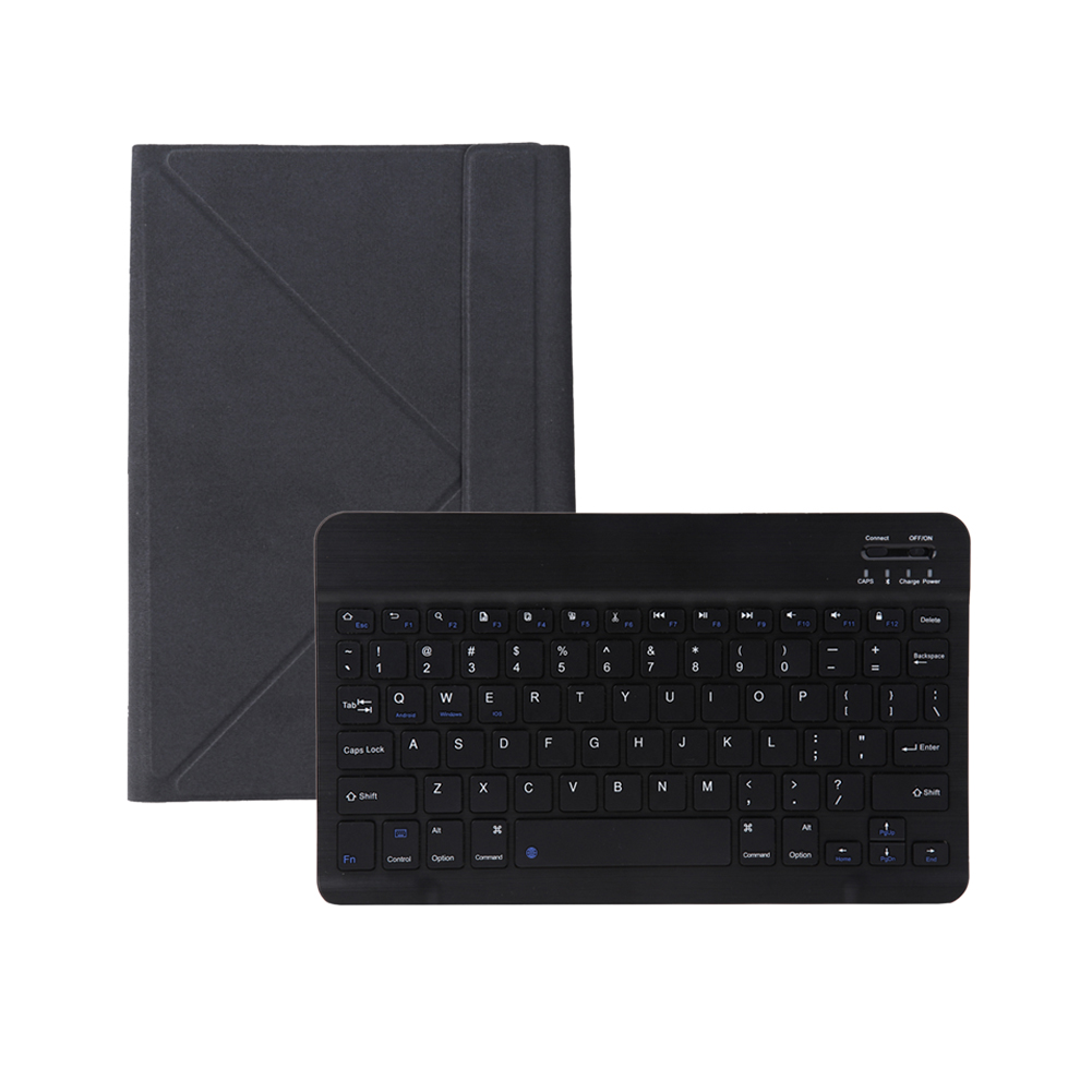 Black PU Flip Protective Shell Case Cover Universal Bluetooth Detachable Keyboard for Android Windows iOS 9-10 Tablet 100w output power single phase gear motor small ac gear motors with1 gearbox ratio 3 50