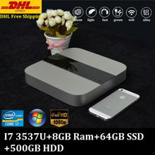 DHL Free Shipping 3 Years Warranty Mini PC Win8.1 Intel Core i7 3537U 4M Cache 8GB Ram 64GB SSD 500GB HDD TV Box XBMC Full 1080P